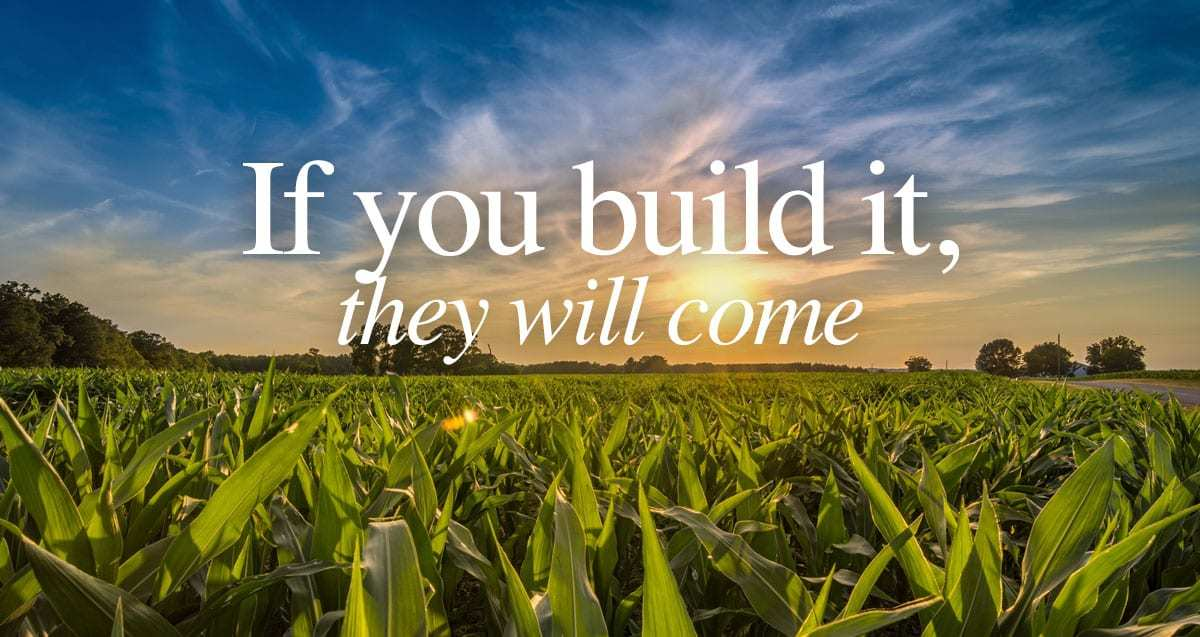 Image result for if you build it they will come