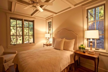 bedroom master cottage mountain ceiling coffered beams award winning rock features preserve creek announces nc cashiers exterior living