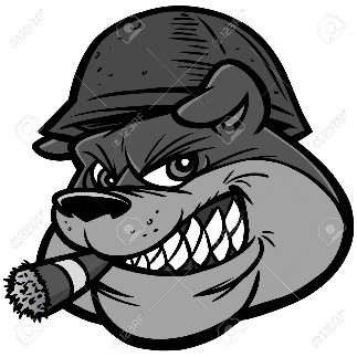 Bulldog soldier with cigar