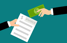 Exchanging invoice for money