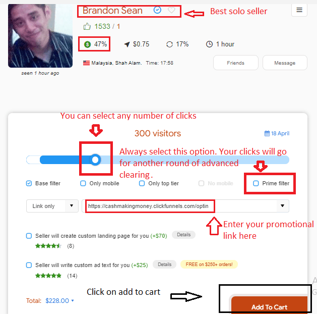 brandon profile - How to buy Solo Ads from UDIMI