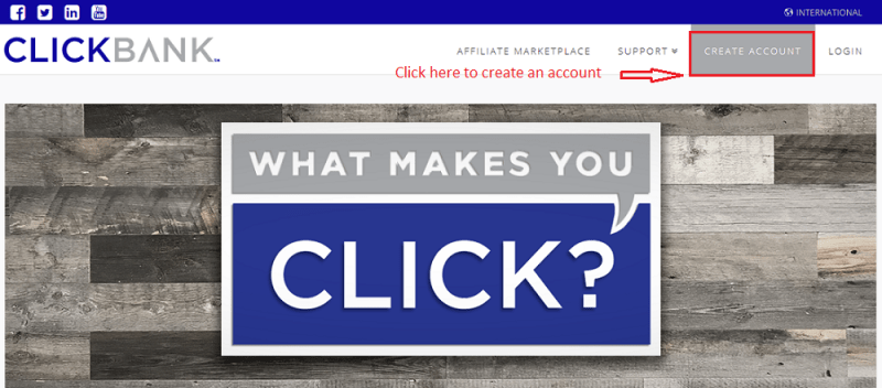 create account - Step by Step guide to create ClickBank Affiliate Account