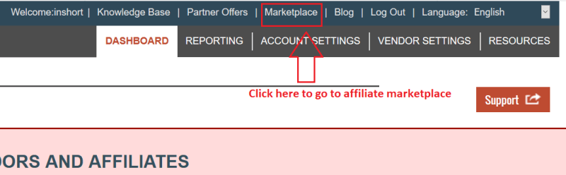 dashboard 1024x317 - Step by Step guide to create ClickBank Affiliate Account