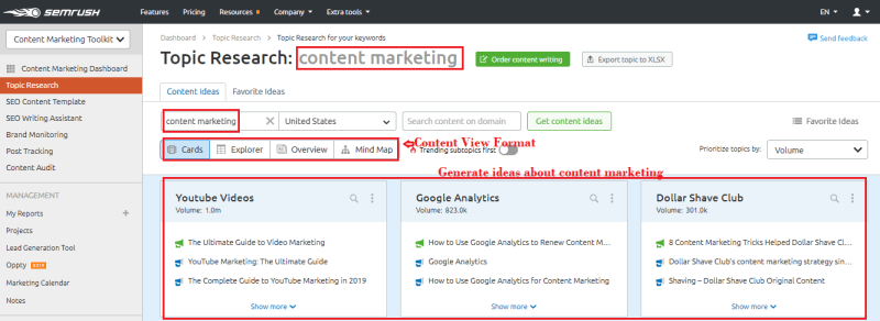 content marketing topic 1024x374 - Learn The Truth About SEMrush Content Marketing Toolkit