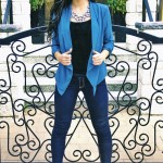 Shawl Collar Blazer- Teal