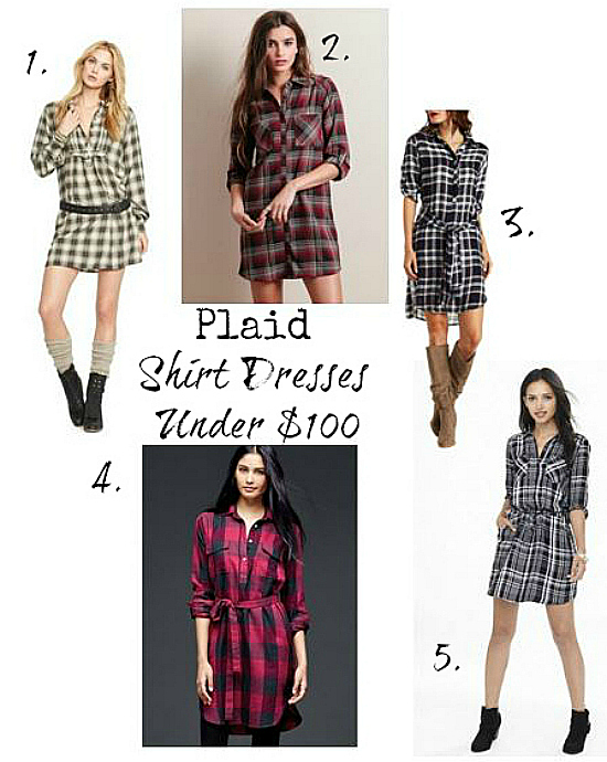 Plaid Shirt Dresses Under $100