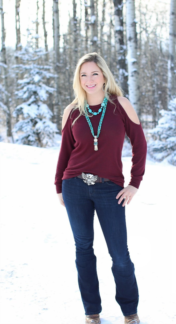 Turquoise and Cold Shoulders
