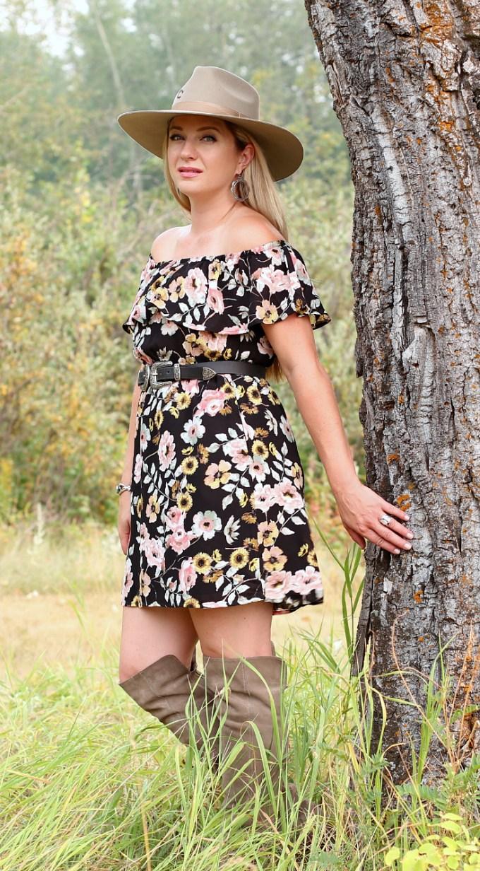 C&C Floral Dress