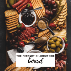 OVERHEAD VIEW OF CHARCUTERIE BOARD LINKING TO A GUIDE TO ASSEMBLE