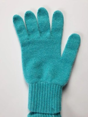 product image for a pair of turquoise pure cashmere gloves made in Scotland - 600x800 - product id:982 - cashmereglovesandscarves.co.uk