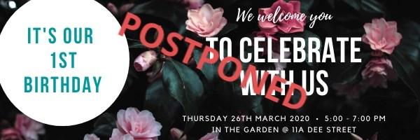 Our Garden Party has been postponed :(