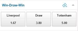 win draw win betting example