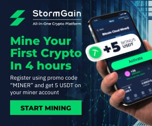 Get $5 when you register to mine on StormGain