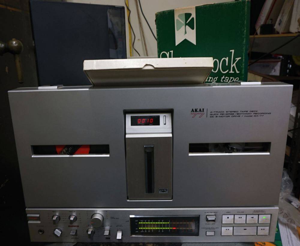 medium resolution of  picture of vintage akai gx 77 4 track stereo tape deck with extra reels