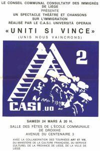 affiche UNITI SI VINCE 2 - 1979