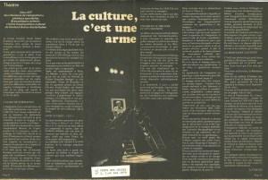 article LA CULTURE, C'EST UNE ARME Le temps des crises 1978
