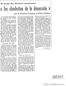 article Les clandestins de la démocratie LA CITE 1979