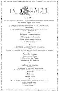LA CHARTE DU CASI 1991
