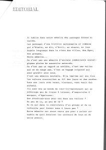 LA PIAZZA N.4 Janvier 1989 editorial