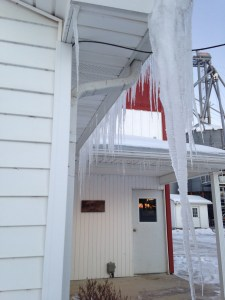 The icicles are getting longer...