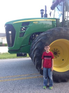 I had a visitor on Tuesday evening.  Trey Baker came for a tractor ride