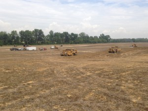 Shepards are at work on the other end of the field where John is applying NH3.  From the center of the picture to the right, you can see the beginnings of a new WASCoB taking shape.  In this field, there are two new major WASCoBs to be built, and 6 others to be enlarged.  Hurry, hurry!