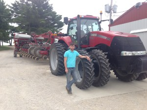 Nicolas experienced corn planting today wit Ross