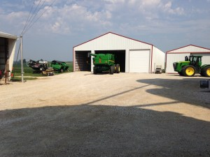Yesterday afternoon, after the preparation work was finished on the new Demco grain cart, we re-arranged all the stuff in the big storage barn to accommodate the new cart.  We like for our 'stuff' to be stored inside, out of the sun.