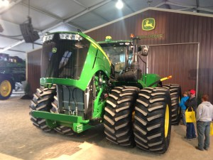 This is a 2015 JD 9620 tractor.  As the number indicates, it has 620 HP.  This is the most powerful tractor JD has ever produced.