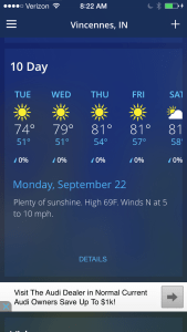 Yesterday's 10- day forecast is superb!  We should be able to harvest soybeans in each of these beautiful days our Maker is providing!