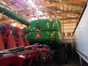 With the JD combine tucked away in the back of the big barn, we are ready for winter!