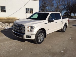 The new F-150 has arrived at the farm.  Now to load it with my 'stuff' in the glove box and console.