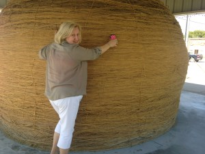 Yes, this is the world's largest ball of twine, 43 feet in circumference!