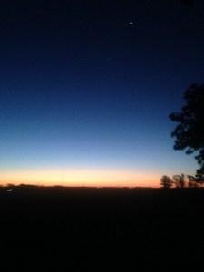 A sunrise this week...