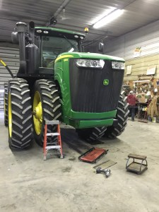 Brandon is working to sort out all the proper filters to service this 9360R tractor
