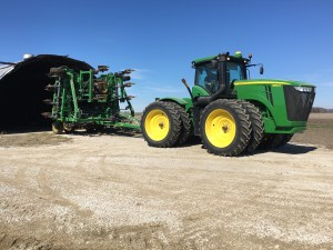 The JD 2510H ammonia toolbar comes out, too. It's stored behind the air drill, in the back of the old quonset building at Huey.