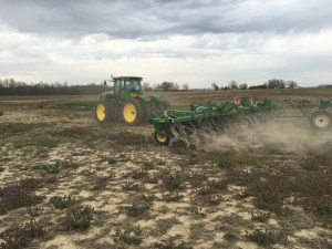 """The nitrogen is going in nicely, and """"sealing"""" into the soil well.  Today at this farm location (Downen) gives us pretty favorable soil conditions for this application task."""
