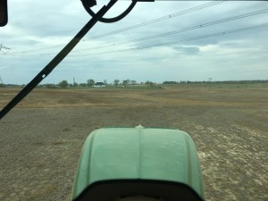 Working at the Waldo farm, the soybeans were going in well.