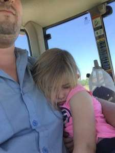 John said this was a TKO...tractor knock out. A tractor ride is often more effective than a Sominex...