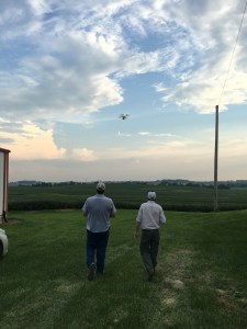 As the day cooled down, John demonstrated our use of our drone