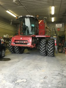 The C-IH 8230 is in the shop today for an engine oil change.