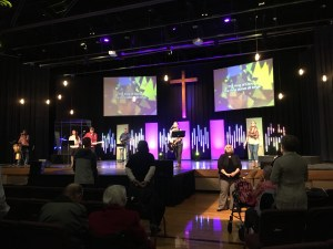 Worship service at Capitol City Christian Church.