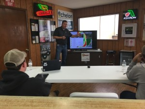 Chad Dow of Climate Corp explains some features of the FieldView and FieldView Cab apps.