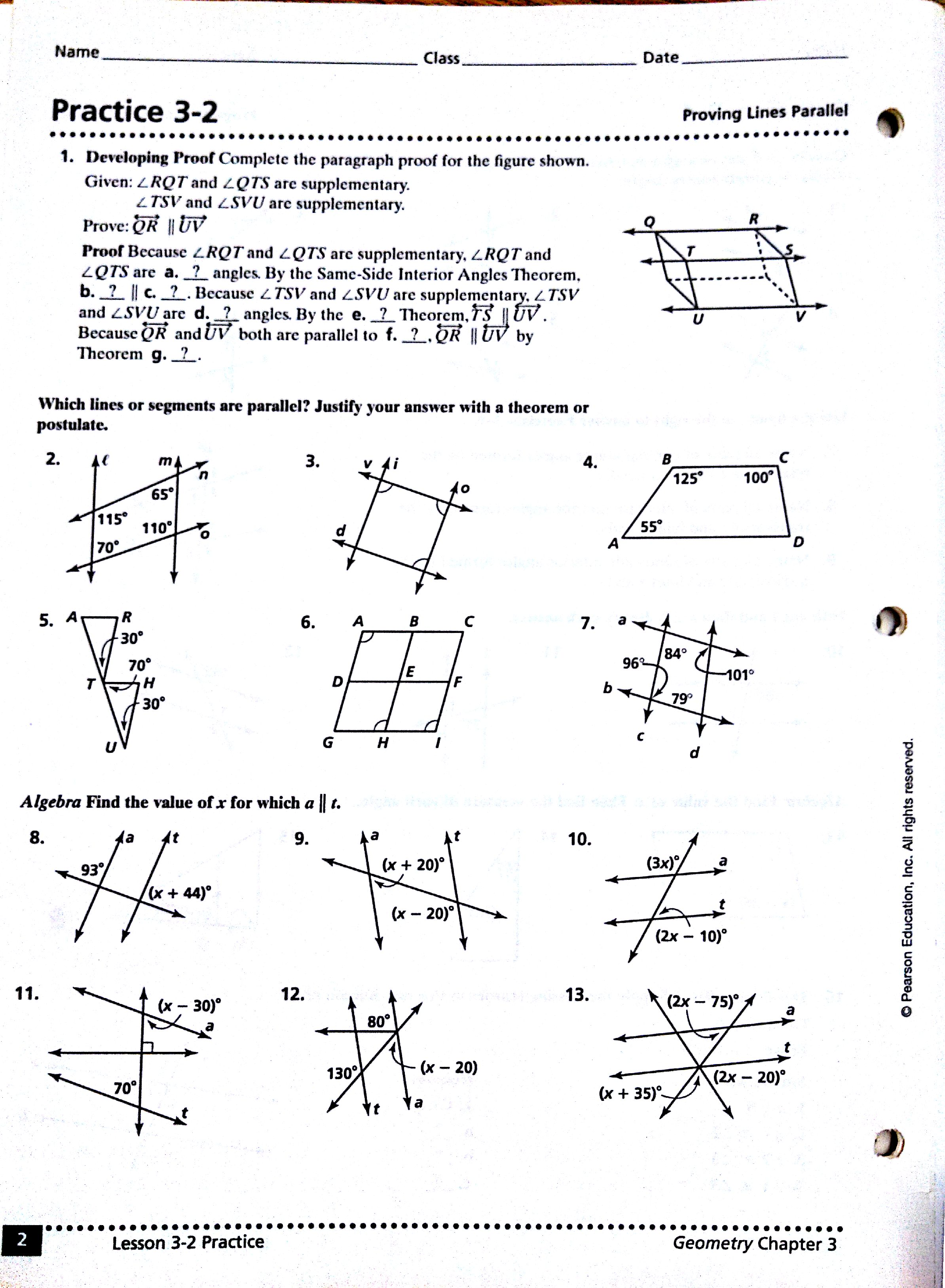 27 Lines Angles And Triangles Worksheet Answers