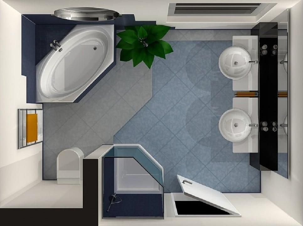 Il bagno di 45 mq quando i piccoli spazi sprigionano la