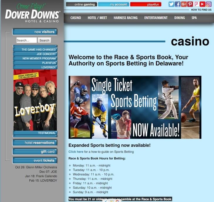 Dover Downs Glücksspiel im Sportwetten