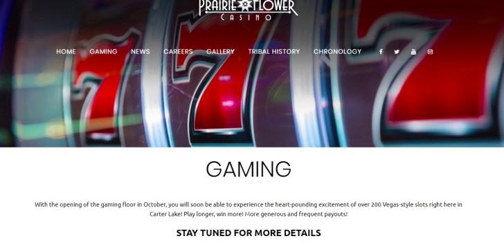 Gaming at Prairie Flower Casino