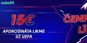 Olybet pirmā bezriska likme 15 EUR