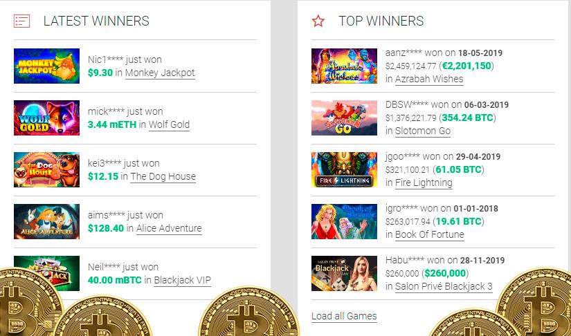 10% Pinigų Grąžinimo Premija - Casino Bitcoin.com