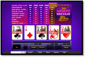 WizBet Online Casino Poker Video Poker rakeback